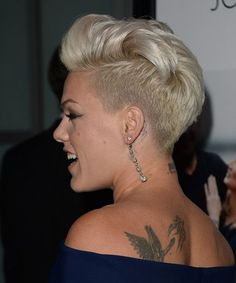 Best Short Hairstyles with Pretty Tattoos