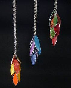 Mokume Nendo Pendants, via Flickr.