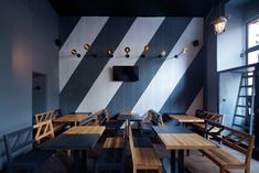 Rebel Wings restaurant / bar by studio minio, Prague – Czech Republic » Retail Design Blog