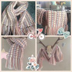 Sjaal gehaakt van Julia (zeeman) patroon uit Haken en kleur 2