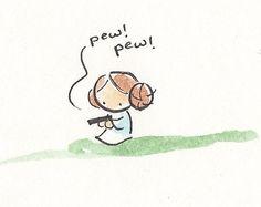 Pew! Pew! (Mini-Painting by Katie Cook)