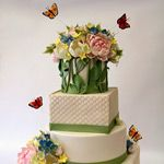 Pretty spring cake from Pink Cake Box Wedding Cakes With Flowers, Beautiful Wedding Cakes, Gorgeous Cakes, Amazing Cakes, Fancy Cakes, Cute Cakes, Pretty Cakes, Cake Wrecks, Pink Cake Box