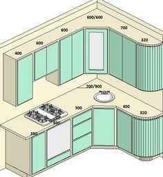 Варианты проектов кухонь 5-6 метров со стоимостью