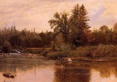Albert Bierstadt - Landscape New Hampshire