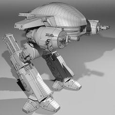 ED209 Enforcement Droid from original Robocop movie work in progress