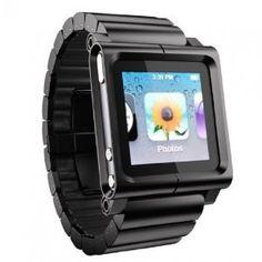 Multi-Touch Watch Band for iPod Nano 6G(Watch Wrist Strap)-Black by BinnBox