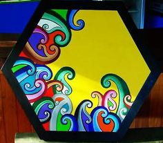 Rainbow of Koru on yellow. Maori Designs, Cool Designs, Maori Words, New Zealand Art, Nz Art, Maori Art, Kiwiana, Bone Carving, Art Classroom