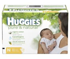 Huggies Pure & Natural Diapers, Size Newborn, 72-Count - http://www.intomars.com/huggies-pure-and-natural-diapers-newborn.html