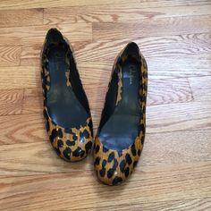 Cole Haan leopard print mini wedge Coke Haan mini wedge flats. Leopard print.  Scuffs on sole. Cole Haan Shoes Wedges