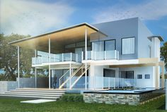 Architectural Rendering: Proposed Two-Storey Modern Residence