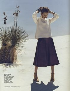 We're getting a head start on Fall! Neiman Marcus August 2014 Book featuring our Lafayette 148 NY Luxe Merino Cashmere Sweater & Weightless Lambskin Full Skirt