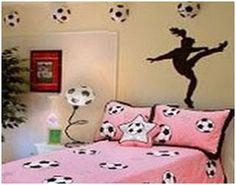 Football bedding set - Girls soccer bedroom ideas
