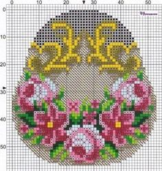 Bed Quilt Patterns, Crochet Bedspread Pattern, Tapestry Crochet, Crochet Patterns, Cross Stitch Rose, Cross Stitch Flowers, Loom Beading, Beading Patterns, Beaded Embroidery