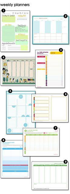 Weekly planning printable.