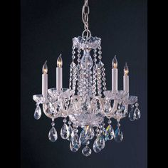 Traditional Crystal 1061 Chandelier by Crystorama | 1061-CH-CL-MWP