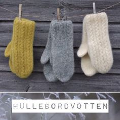 Hullebordvotten - Lilly is Love Knitted Mittens Pattern, Knit Mittens, Mitten Gloves, Knitted Hats, Knitting Designs, Knitting Patterns, Crochet Patterns, Knitting Daily, Hand Knitting