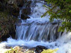 Waterfall in Yankee Boy Basin Trail near Ouray, Colorado