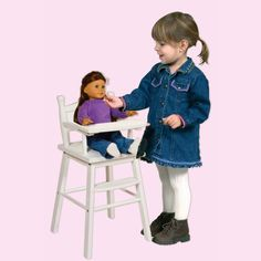 Guidecraft Doll High Chair   White   G98123