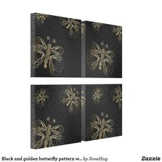 Shop Black and golden butterfly pattern with halftones canvas print created by SovaHug. Butterfly Pattern, Wall Art Sets, Canvas Prints, Retro, Black, Bowtie Pattern, Photo Canvas Prints, Black People, Neo Traditional