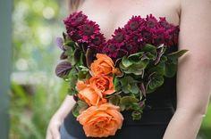 Floral corset by Wisteria Grove Blog of Mayesh Wholesale Florist - #MayeshFloralFashion Instagram Challenge Recap