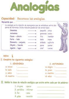 Razonamiento Verbal   Quinto Grado Primaria   Analogía Verbales  Recuerda que...  La analogía  es la relación de semejanza que se establece...