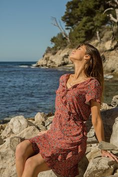 Robe Fanny #terreetmer #été #cassis Cover Up, Shoulder Dress, Collection, Dresses, Fashion, Surf And Turf, Skirt, Vestidos, Moda