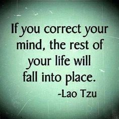 Correct your mind