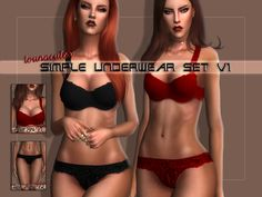 Sims 4 CC's - The Best: Simple Underwear Set V1 by Lounacutex