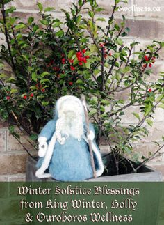 Winter Solstice Blessings from King Winter, Holly & Ouroboros Wellness!