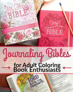 Now I can take my two latest passions and join them with these brand new journaling Bibles. Have you seen them?