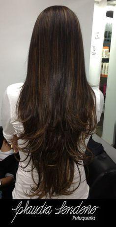 cortes de cabello largo en capas lacio - Buscar con Google