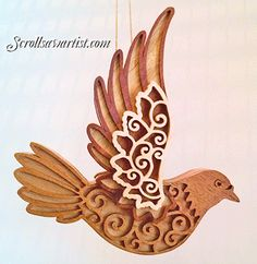Scroll Saw Patterns :: Birds :: Layered dove ornament -