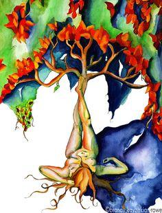 A Modern Art Nouveau interpretation of Mother Nature... breathtaking!