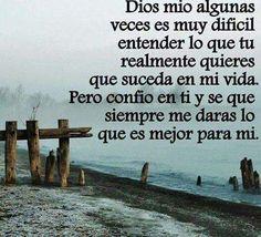 Ayudame a no perder la fe Dios mio