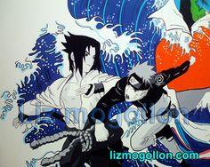 "Manga Pop Art Liz Mogollon ""La gran ola"" by liz mogollon, via Behance Naruto Art, Anime Naruto, Manga Anime, Pop Art, Video Games, Behance, Animation, Artist, Painting"