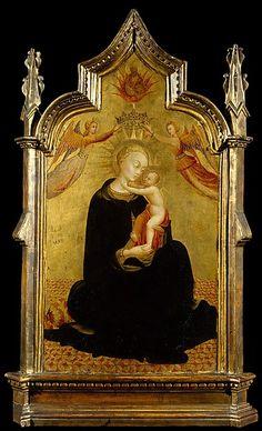 Il Sassetta (Stefano di Giovanni) - Madonna con Bambino e Angeli -  ca. 1445-1450 - tempera su tavola, fondo oro - Metropolitan Museum of Art, New York