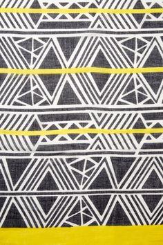 Image of Urban Originals Aztec Print Scarf Geometric Patterns, Ethnic Patterns, Pretty Patterns, Graphic Patterns, Textile Patterns, Color Patterns, Surface Pattern, Pattern Art, Pattern Design