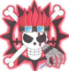 Eustass Kid Pirate-Emblem. by LoLoOw