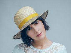 Womens straw hats  Panama Hat  Juke Yellow by JustineHats on Etsy