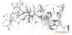floral lioness by ~CaPtIne on deviantART