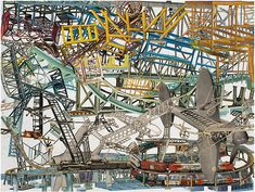 Lance Letscher uses collage to build an over-engineered world