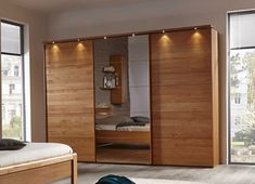 Suspended Wardrobe With Mirror - Best Home Decorating Ideas - How To Design A Room - homehomedecor Luxe Bedroom, Beige Bedroom Decor, Luxury Bedroom Design, Bedroom Cupboard Designs, Bedroom Closet Design, Wardrobe Door Designs, Remodel Bedroom, Interior Design Bedroom, Bedroom Built In Wardrobe