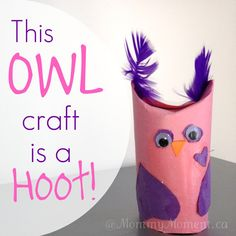 This Owl craft is a Hoot for Valentine's Day!