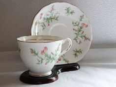 COLCLOUGH TEA CUP AND SAUCER SET Made In England Bone China Beautiful dainty #COLCLOUGH