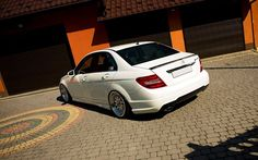 Mercedes C Classe on #JapanRacing #JR10 18x8.5 + 18x9.5 Silver Machined Wheels www.japanracing.pl