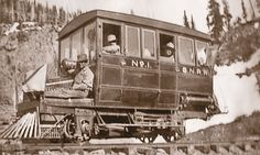 In the Mears's daughter, Cora Mears Pitcher, took over the SNRR, including her father's SNRR Stover Rail car, after her father and husband died. – Photo courtesy of D&SNGRR – 1956 Buick, Rail Car, Oregon Trail, Old Trains, Train Pictures, Train Engines, Model Trains, Locomotive, Iron