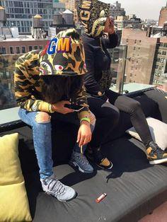 Pull tf up Dope Fashion, Fashion Killa, Urban Fashion, Womens Fashion, Bff Goals, Best Friend Goals, Squad Goals, Bape Outfits, Fashion Outfits