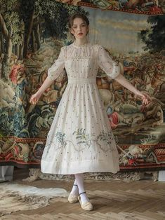 Vintage Outfits, Vintage Dresses, Vintage Fashion, Countryside Dress, French Countryside, Pretty Outfits, Pretty Dresses, Original Design, Vintage Mode