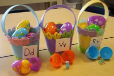 Fun preschool Easter activities.  Great literacy games, math concepts, and crafts. Maybe a easter egg alphabet game. etc.