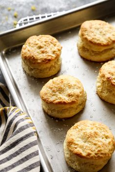 Light and fluffy and ultra tender, these Lemon Cream Biscuits will disappear in no time. I recommend baking a double batch! There are a collection of recipes that I return to over and over again, wit Lemon Biscuits, Cream Biscuits, Lemon Recipes, Baking Recipes, Cake Recipes, Bread Recipes, Ciabatta, Yummy Treats, Yummy Food